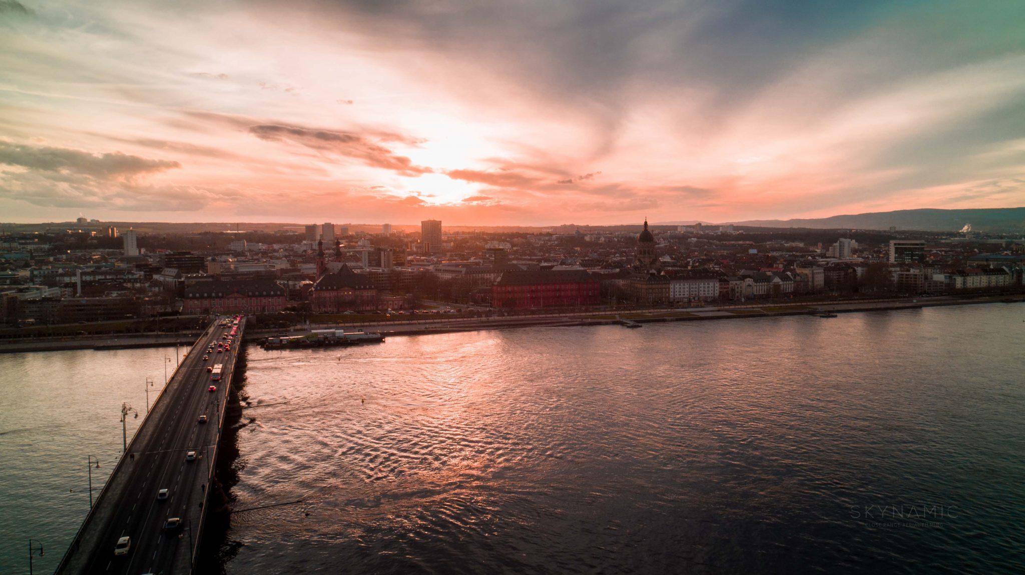 Drohne Mainz Luftaufnahmen Dom
