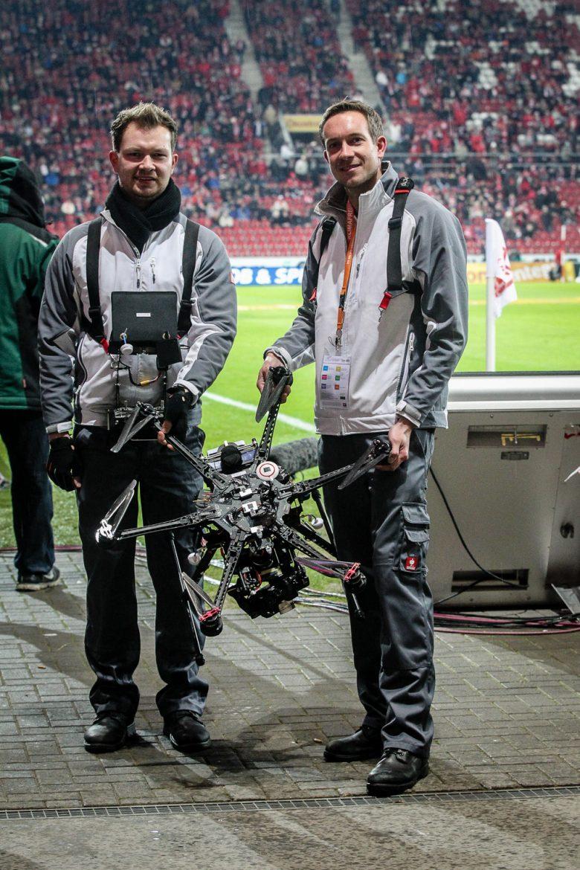 Die Skynamic Drohne bei Mainz 05