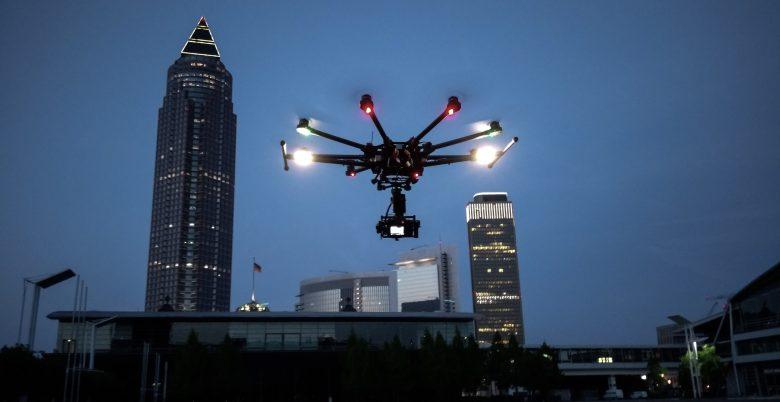 Frankfurt Stock footage aerial drone