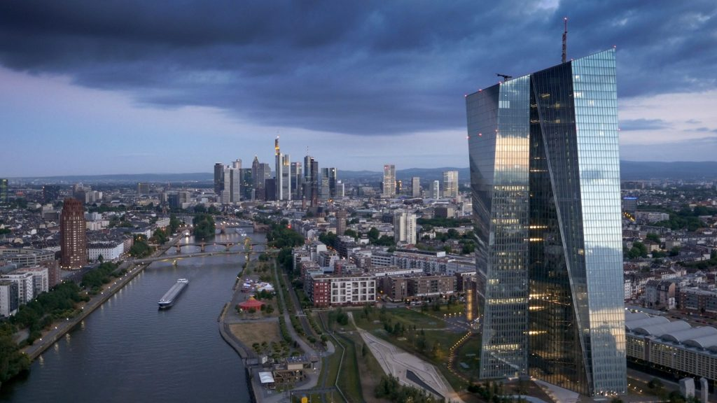Stock Footage Frankfurt Skyline