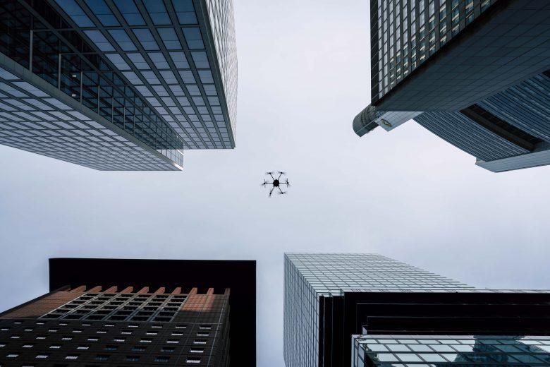 Porter Heavy Lifter Drohnen Dreh in Frankfurt